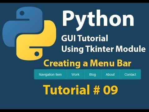 Python GUI: How to create a Menu bar | Menu List in Python Using Tkinter Tutorial# 9