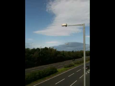 Airbus a380 over belfast