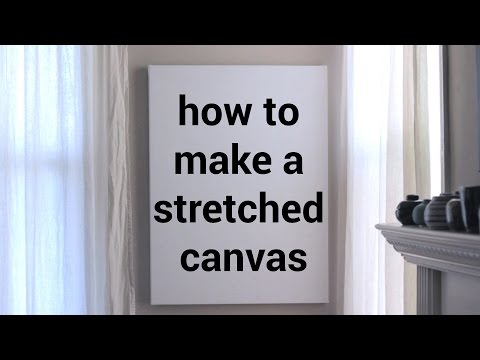 How to make a stretched canvas