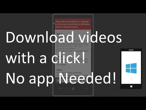 How to download/stream videos full screen with a click! No apps needed! - Windows Phone