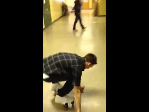 Homemade roller skates