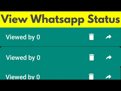 How To View Whatsapp Status Without Letting Them Know-See Someone's Whatsapp Story-2018
