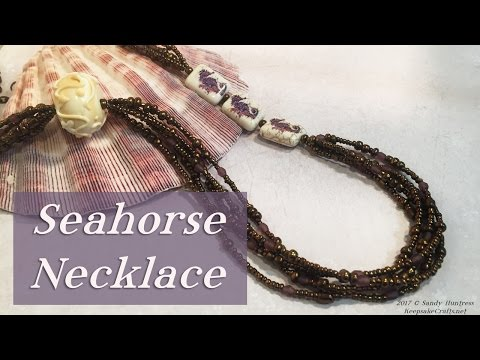 Seahorse Necklace-Beaded Beading Jewelry Tutorial