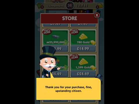 Monopoly hotel iPhone hack money and gold!!