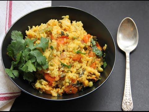 Mixed Lentils & Vegetables Khichdi - Instant Pot