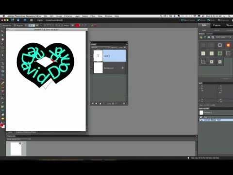 Photoshop Elements 10 Text On Shape Tool