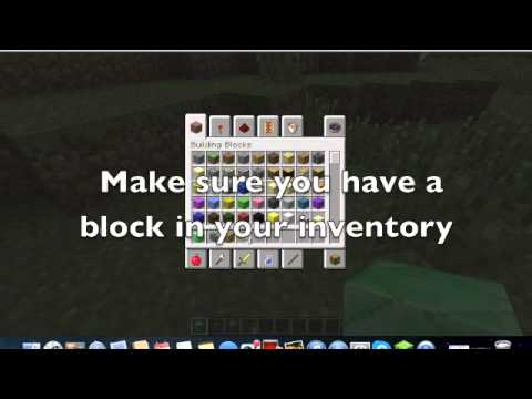 How to place a block in minecraft mac
