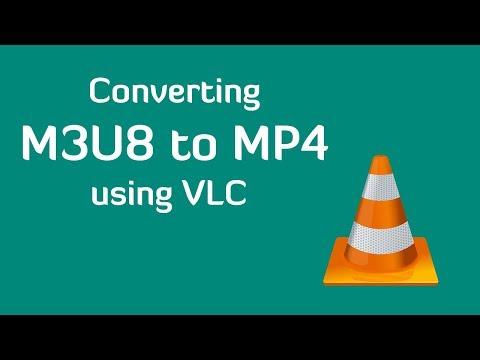 Convert m3u8 to mp4 using VLC
