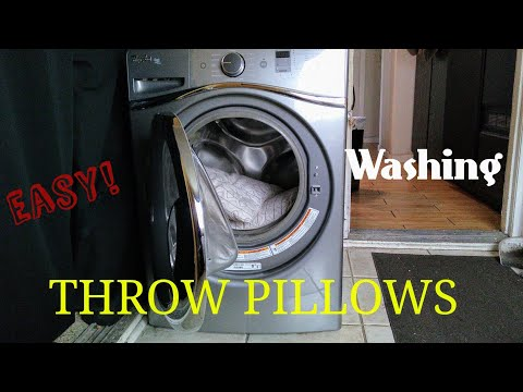 How to wash and dry throw pillows