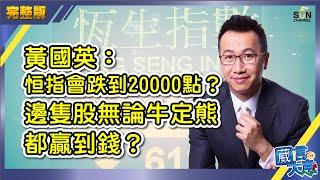 黃國英:恒指會跌到20000點?邊隻股無論牛定熊都贏到錢?︱嘉賓:黃國英 Alex Wong︱葳言大意︱Sun Channel︱20200623