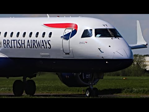 British Airways E190 Touch 'n' Go Circuit Training at Southend Airport