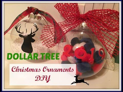 DOLLAR TREE Christmas Ornaments DIY | PLAID WEEK: Day 4