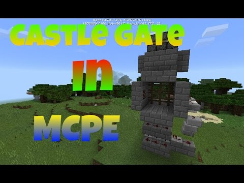 How to make Working Castle Gate in Minecraft PE