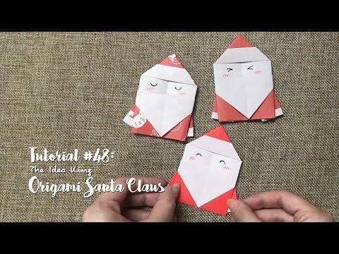How to Make DIY Origami Cute Santa Claus?   The Idea King Tutorial #48