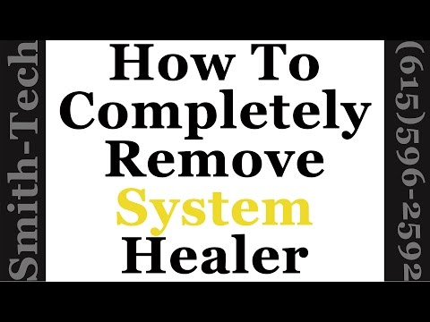 How To Remove System Healer From Windows 7, 8 and 10