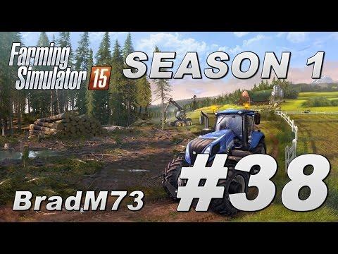 Farming Simulator 15 - Season 1 - Episode 38 - Grass, logs and seeds!!