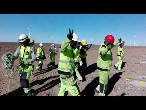 Dancing Wind Turbine Technicians: South Africa Installation