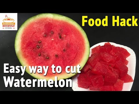 How To Cut Watermelon | Food Hacks | Easy Way To Cut Watermelon Into Cubes