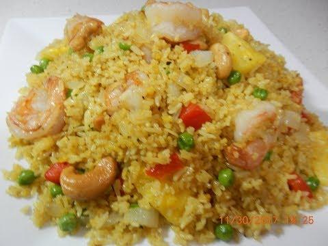 Egg Yolk and Shrimp Fried Rice Recipe