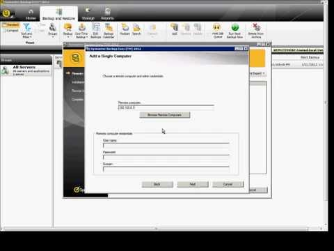 How to push out the Windows agent to a server in Symantec Backup Exec 2012