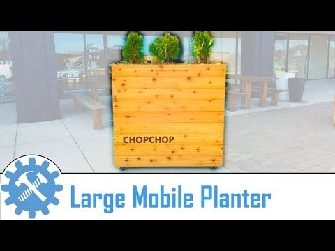 Making an awesome modern outdoor large movable planter box!