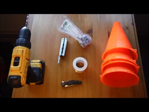 DIY Safety Warning Reflector Cone