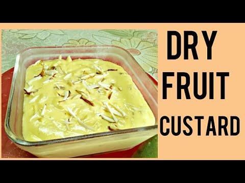 How To Make Dry Fruit Custard | ड्राई फ्रूट्स कस्टर्ड रेसिपी | Custard Recipes in Hindi By Pooriwala
