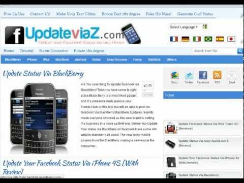 How To Update Status Via Blackberry,iPhone,Ipad,Nokia [Updated]
