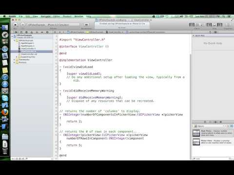 Working with UIPickerView class in iOS
