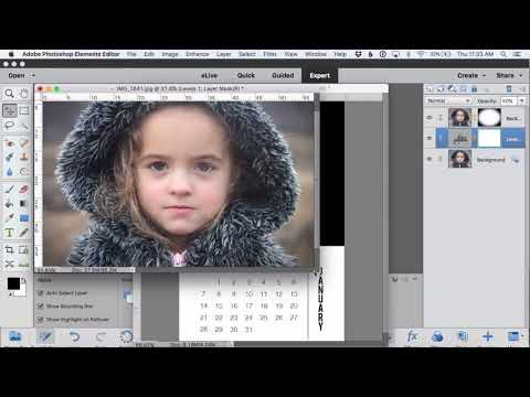 Create Magnetic Photo Calendar Pages using Photoshop Elements 15