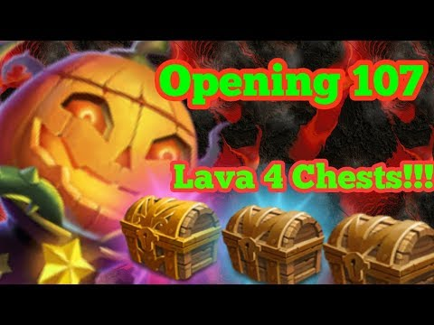Castle Clash opening up 107 lava 4 chests!!!