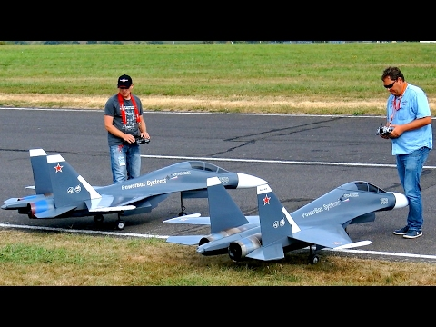 GREAT RC JET MODEL SHOW WITH 2X SUKHOI SU-30 MK ELSTER JET TEAM / Jetpower Fair 2016
