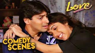 Salman Khan Comedy Scenes | Love Hindi Movie | Revathi, Amjad Khan | HD 1080p