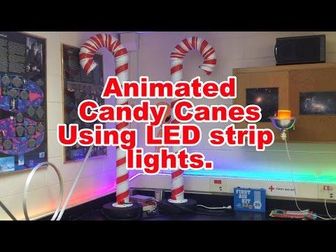 DIY Animated LED Candy Canes