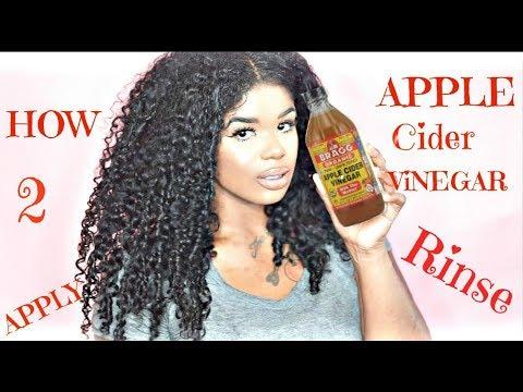 apple cider vinegar rinse #1 curly hair hack
