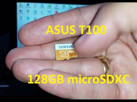 Asus Transformer Book T100 128GB microSDXC WORKS FINE!