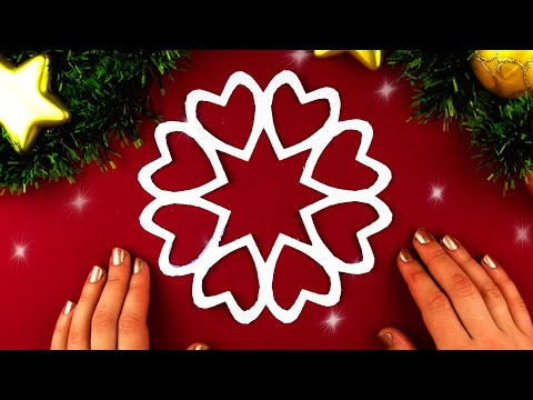 How to make Snowflake Paper Heart ❄ №7 for Christmas and New Year Detailed tutorial DIY
