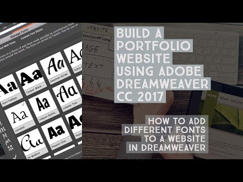 How to add different fonts to a website in Dreamweaver - Dreamweaver Templates [16/38]