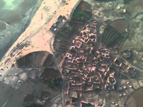 Dawn hot air balloon ride over the Sahara