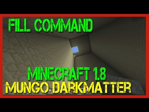 Minecraft  - Using the Fill Command to Build Faster
