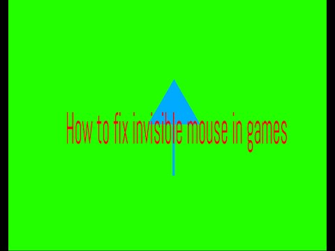 Invisble mouse in full screen games [FIX]