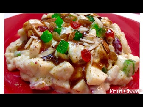 Bazaar Style Fruit Chaat Delicious Creamy Fruit Salad for Ramadan