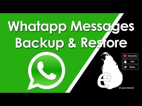 Whatsapp messages backup and restore in tamil | eilankai