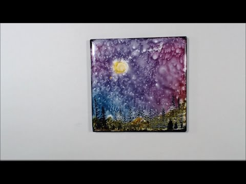 Alcohol Ink Special Request - How to Make Spray with alcohol and ink and more