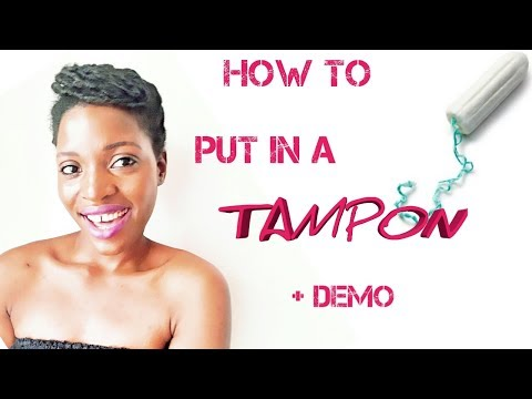 HOW TO PUT IN A TAMPON + DEMO | Charily Posh
