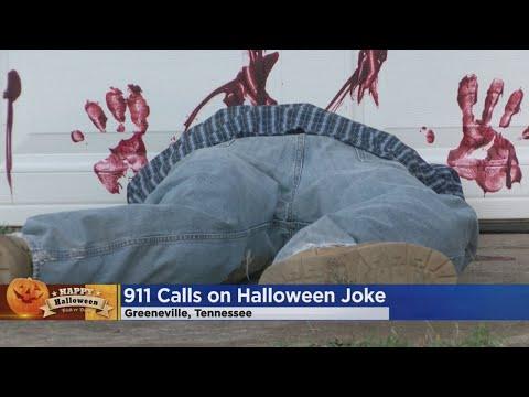 Neighborhood Fooled By Headless Halloween Display