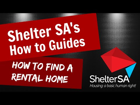 Shelter SA: How to find a rental home