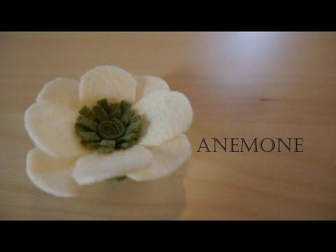 How to make felt flowers - Anemone  (easy!)