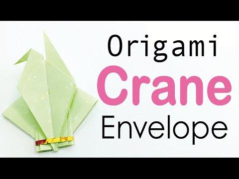 Origami Paper Crane Envelope - DIY - Origami Kawaii〔#018〕