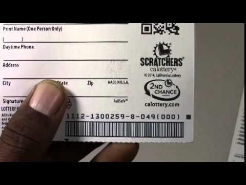 Lotto tips.. CA, Scratchers